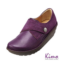 魅力蛇紋手縫厚底鞋 魅力紫K15WF011599 牛皮.增高.舒適•手縫~Kimo德國 氣