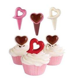 美國 惠爾通 wilton 巧克力模^(甜心插飾3款^) 愛心 心型 杯子蛋糕 餅乾模 蛋