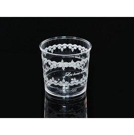 慕斯杯 果凍杯^(白^)_20入 白色花邊 奶酪杯 甜品杯 布丁杯 茶凍 透明杯 馬芬杯