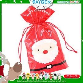 烘焙餅乾X'MAS聖誕老人紅底拉繩包裝袋 單售【HH婦幼館】