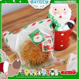 烘焙餅乾X'MAS聖誕老人郵票自黏袋 100入【HH婦幼館】