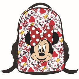 迪士尼Disney 卡通米奇米妮印花兒童減負書包雙肩包 可愛卡通3D動漫米奇米妮加厚透氣護