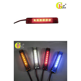 GO~FINE 夠好 台製車用6led燈紅光24v鑫鑫腸燈2線1段led側燈led方向燈l