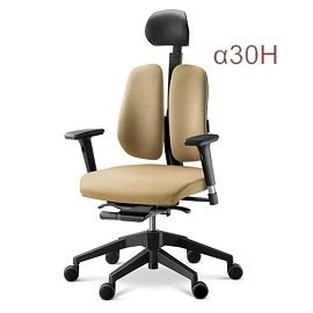 史上最強 德國 Duorest雙背椅α30H 有頭枕 ~α30~ HAWJOU 豪優 人體