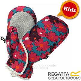 【英國 REGATTA】兒童 Padded Spatter Mitts 可調式防潑水防風保暖二指手套(內填科技羽絨)玩雪連指手套/滑雪.賞雪.旅遊/EN磁綠_RKG032