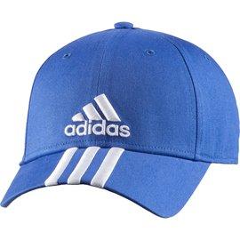 Adidas~基本款 三條線 休閒 棒球 運動帽-寶藍 (AB0536)