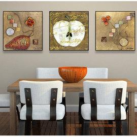 5Cgo ~ 七天交貨~ 40724462222 抽象水果餐廳裝飾畫 簡約過道咖啡廳飯廳牆