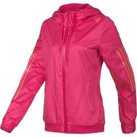Adidas 女平織 防風 輕量 慢跑 路跑 運動 外套-桃紅 (D86939)
