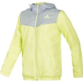 Adidas 平織 防風 輕量 慢跑 路跑 運動 外套-黃 (D87686)