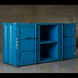 工業風 復古電視櫃 藍色
