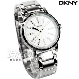 DKNY 紐約佳人都會腕錶 女錶 金屬黑 真皮錶帶 NY2373