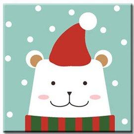 LOVIN 超萌 數字油畫 耶誕熊^(09^) 1幅