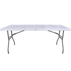 【免工具】寬183公分(6尺寬度)4.5公分厚度-對疊折疊桌/餐桌/野餐桌/露營桌/拜拜桌(1入/組)-HL-Z183-1