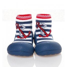 Attipas 快樂腳襪型學步鞋-水手深藍 (AM01)