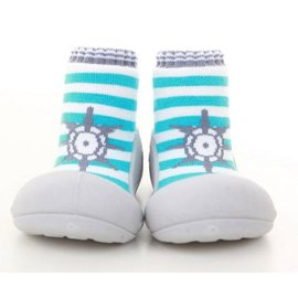 Attipas 快樂腳襪型學步鞋-船長淺藍 (AM02)