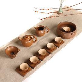 5Cgo~ 七天交貨~  524285862902 日式粗陶複古功夫茶具套裝整套窯變茶洗杯