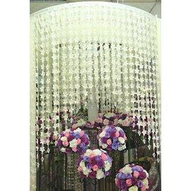 ^~橘子空間裝置藝術^~ 大型圓庭.拱門 白色花瓣 水鑽 白紗 ~人造花用品^~婚禮會場佈