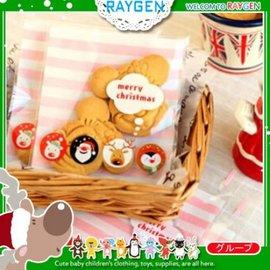 烘焙餅乾X'MAS聖誕老人企鵝麋鹿粉條自黏袋 100入【HH婦幼館】