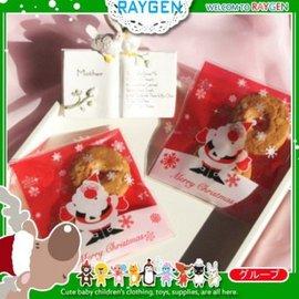 烘焙餅乾X'MAS聖誕老人雪花紅底自黏袋 100入【HH婦幼館】