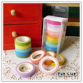 【Q禮品】A2706 糖果和紙膠帶/日韓系彩虹和紙膠帶/螢光色可寫素色紙膠帶/