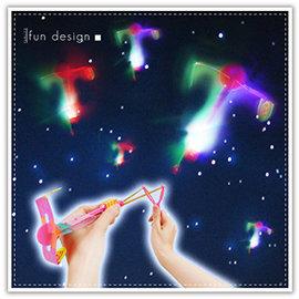 【Q禮品】A2724 Y型彈弓LED竹蜻蜓/夜市熱賣LED高空竹蜻蜓/彈力飛箭/LED發光飛碟/彈力飛空蜻蜓
