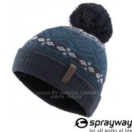 【英國 Sprayway】新款 兒童 Finch Beanie 芬趣 頂級超輕量針織保暖毛帽(可遮耳_僅80g)排汗抗風/反摺毛線帽.摺邊帽子/BL墨藍 000640