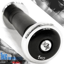 電鍍1公斤啞鈴(橡膠握把)單支1KG啞鈴=2.2磅電鍍啞鈴C113-333701重力舉重量訓練.運動健身器材.推薦哪裡買
