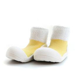 Attipas 快樂腳襪型學步鞋-馬卡龍黃 (PM02)