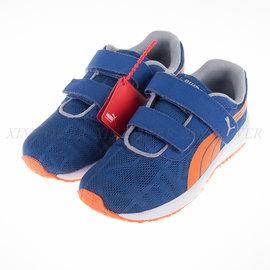 PUMA_Narita V2 V Kids童慢跑鞋-藍/橘 (187255-15)