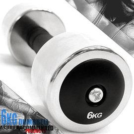 電鍍6公斤啞鈴(橡膠握把)單支6KG啞鈴=13.2磅電鍍啞鈴C113-333706 重力舉重量訓練.運動健身器材.推薦哪裡買