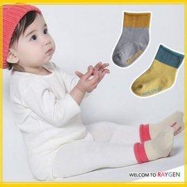襪子 兒童素面拼色捲邊防滑小短襪 地板襪【HH婦幼館】