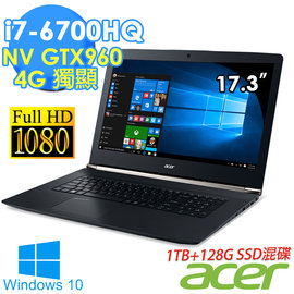 ~Acer~VN7~792G~76Y0 i7~6700HQ 17.3吋FHD高畫質8G D