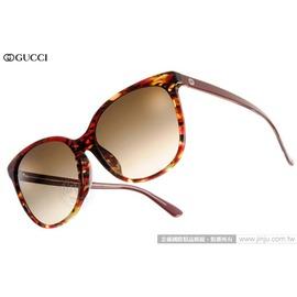 GUCCI 太陽眼鏡 GG3754FS 17RCC (紅琥珀) 人氣熱銷迷人貓眼款 墨鏡 # 金橘眼鏡