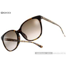 GUCCI 太陽眼鏡 GG3754FS KCLHA (深邃琥珀) 人氣熱銷迷人貓眼款 墨鏡 # 金橘眼鏡