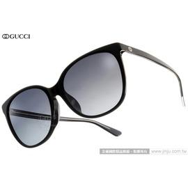 GUCCI 太陽眼鏡 GG3754FS Y6CHD (黑) 人氣熱銷迷人貓眼款 墨鏡 # 金橘眼鏡