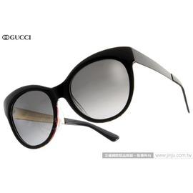 GUCCI 太陽眼鏡 GG3760FS 2ENHD (黑) 魅力復古赫本風貓眼款 墨鏡 # 金橘眼鏡