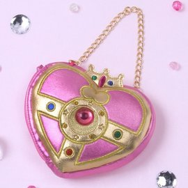 ❤Hamee 日版  美少女戰士Sailor Moon月光心鑽變身盒 多 收納袋 金鍊手提