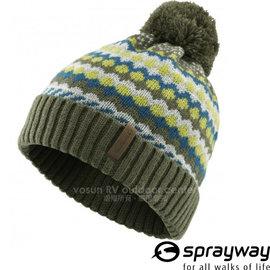 【英國 Sprayway】新款 兒童 Swift Beanie 史威芙 頂級超輕量針織保暖毛帽(可遮耳_僅80g)排汗抗風/反摺毛線帽.摺邊帽子/淺卡其綠 000640