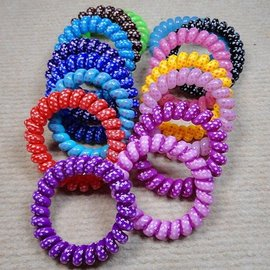 新竹市 糖果色 粗電話線 髮繩/髮圈/頭繩 (中號)