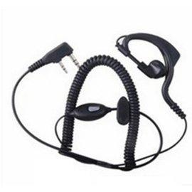 新竹市 (K頭) 對講機 掛耳式曲線 帶mic耳機 (捲線-領夾式) [FIP-00003]