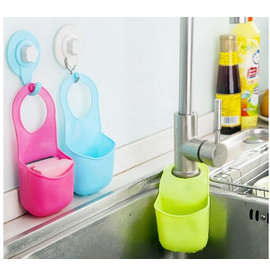 創意水槽掛籃 按扣式置物架 廚房收納袋/海綿掛/多用瀝水架/掛袋