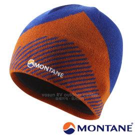 【英國 Montane】Logo Beanie 經典超輕量美麗諾羊毛保暖帽(僅45g 可遮耳.吸濕排汗刷絨毛頭帶)機能性羊毛帽.針織帽.毛線帽/HBEAN 閃電藍