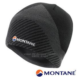 【英國 Montane】Logo Beanie 超輕量保暖3D美麗諾羊毛帽子(僅45g 可遮耳透氣.內絨毛)針織帽.毛線帽 適登山賞雪 非OR Mammut/HBEAN 黑