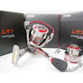 ◎百有釣具◎日本RYOBI  武藏 八培林 雙線盃 捲線器1000型