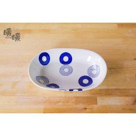 lt 暖暖瓷器 gt 圈圈水玉橢圓皿~~微波烤箱   陶瓷餐盤  安心安全  入厝  鄉村