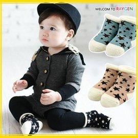 童襪 三色星星純棉透氣寶寶小短襪 地板襪【HH婦幼館】