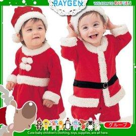 歐美X'MAS聖誕男女寶寶連身哈衣 洋裝 +帽子 套裝【HH婦幼館】