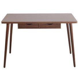 ↘原 2990~木 ~小佐野3.5尺簡約二抽桌 書桌 電腦桌~深胡色
