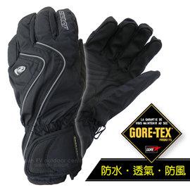 【德國 ZIENER】最新超薄 探險家 Gore-Tex 耐磨防水透氣手套(僅140g_保暖暢銷款)防風保暖.賞雪滑雪 登山健行.機車_黑 AR-42