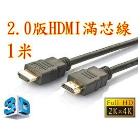正19 1 線 1米 HDMI線 2.0版 支援3D 4K2K 19芯 滿芯線 100公分